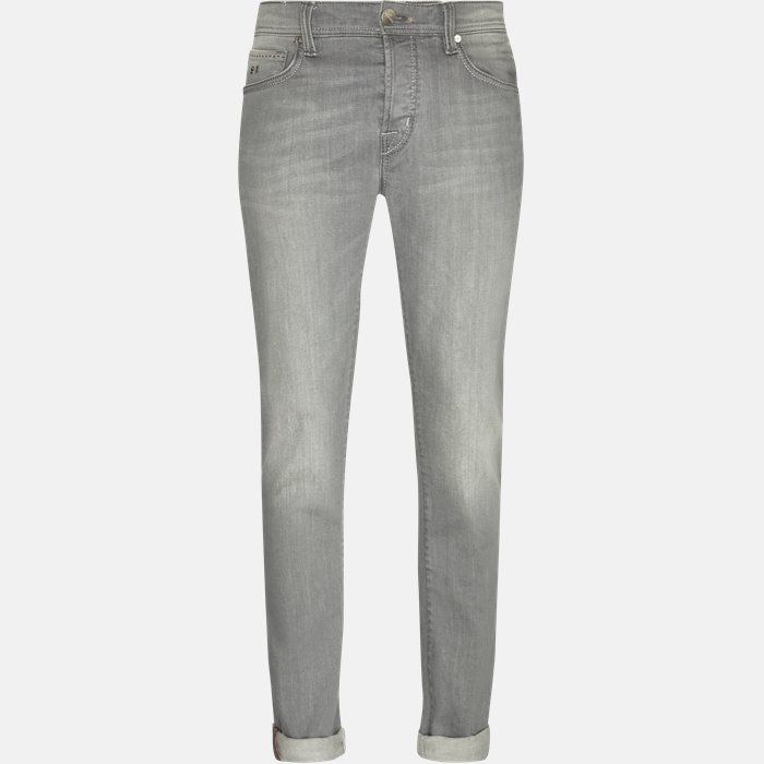 Jeans - Jeans - Regular slim fit - Grå