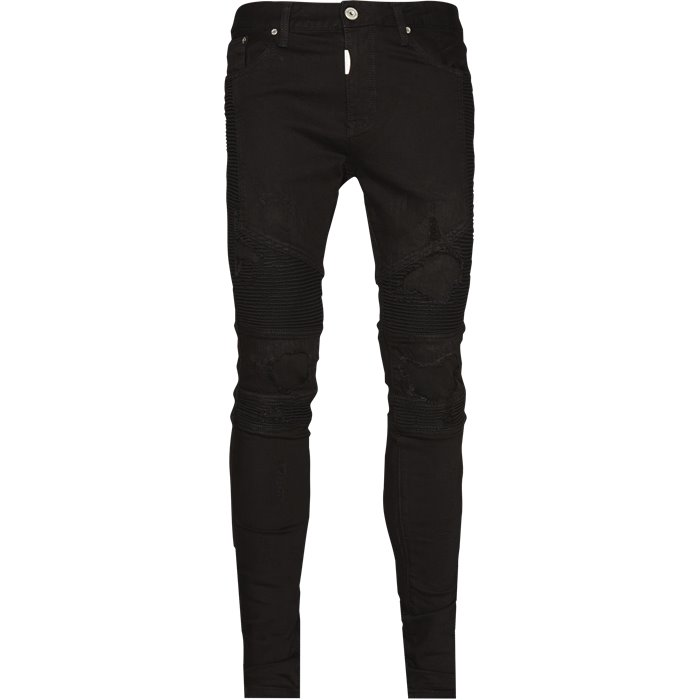 Knee Biker Denim - Jeans - Regular - Sort
