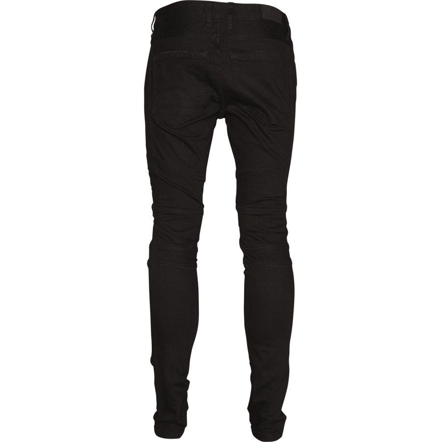 KNEE BIKER DENIM - Jeans - Regular - SORT - 2