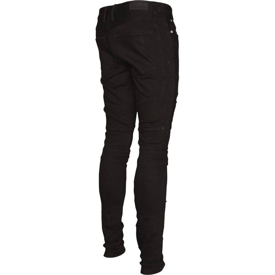 KNEE BIKER DENIM - Jeans - Regular - SORT - 3