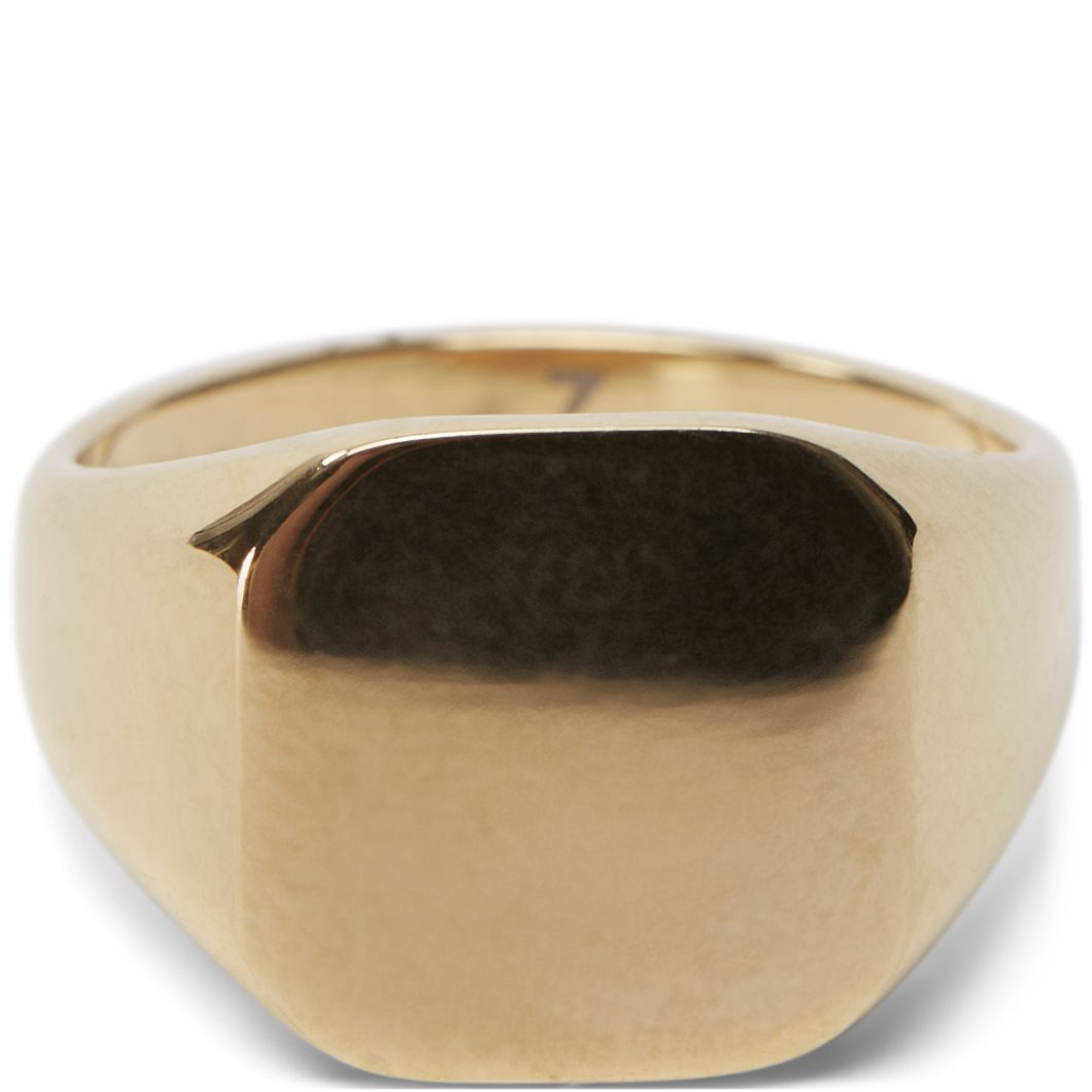 Square No Stone Ring - Accessories - Guld