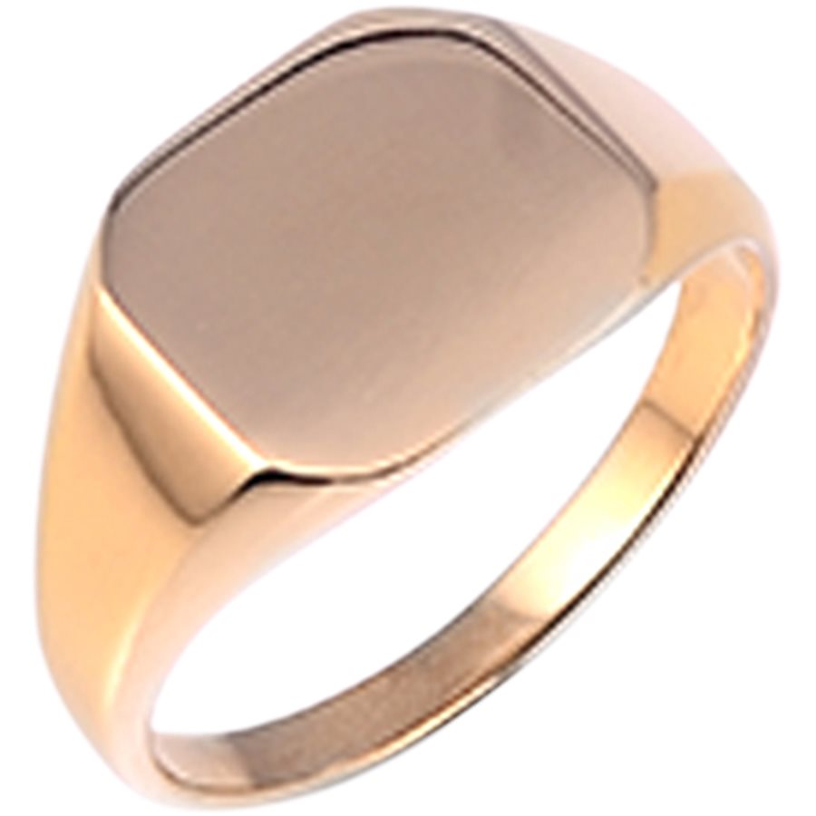 SQUARE NO STONE - Square No Stone Ring - Accessories - GULD - 2