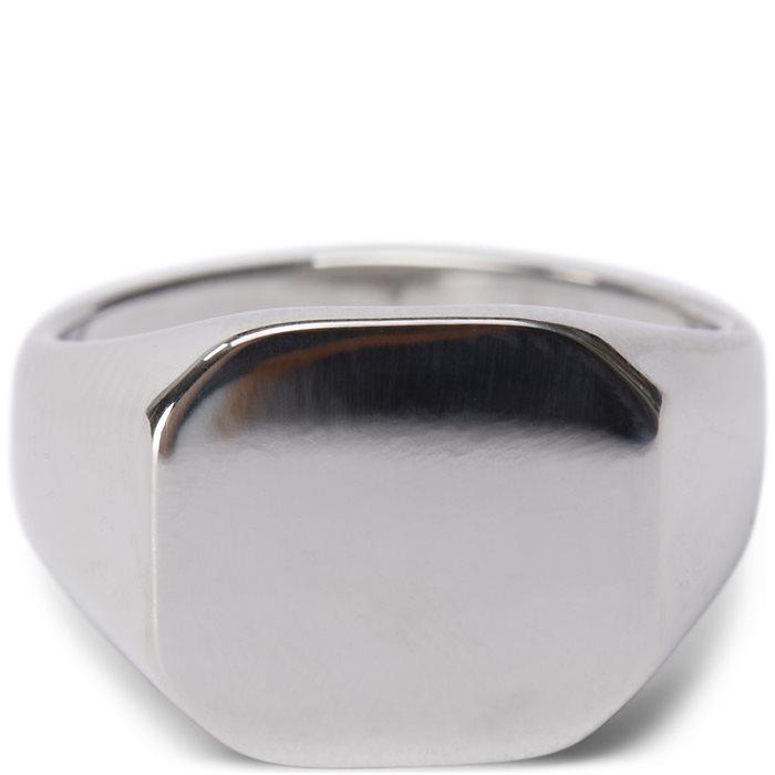 Square No Stone Ring - Accessories - Sølv