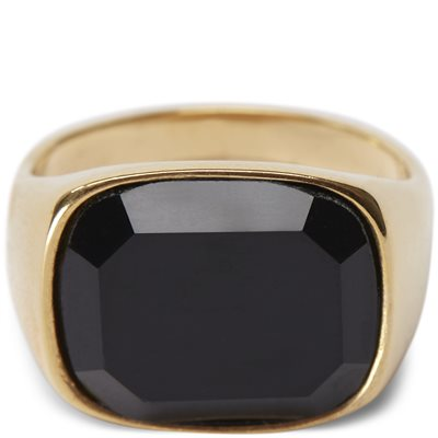 Square Black Stone ring Square Black Stone ring | Guld