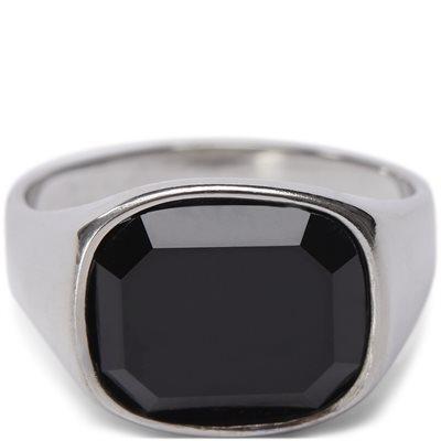 Square Black Stone ring Square Black Stone ring | Sølv