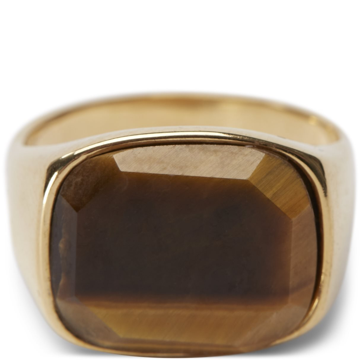 Square Tiger Eye - Accessories - Guld