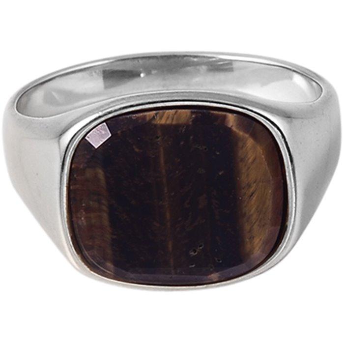 Square Tiger Eye - Accessories - Grå