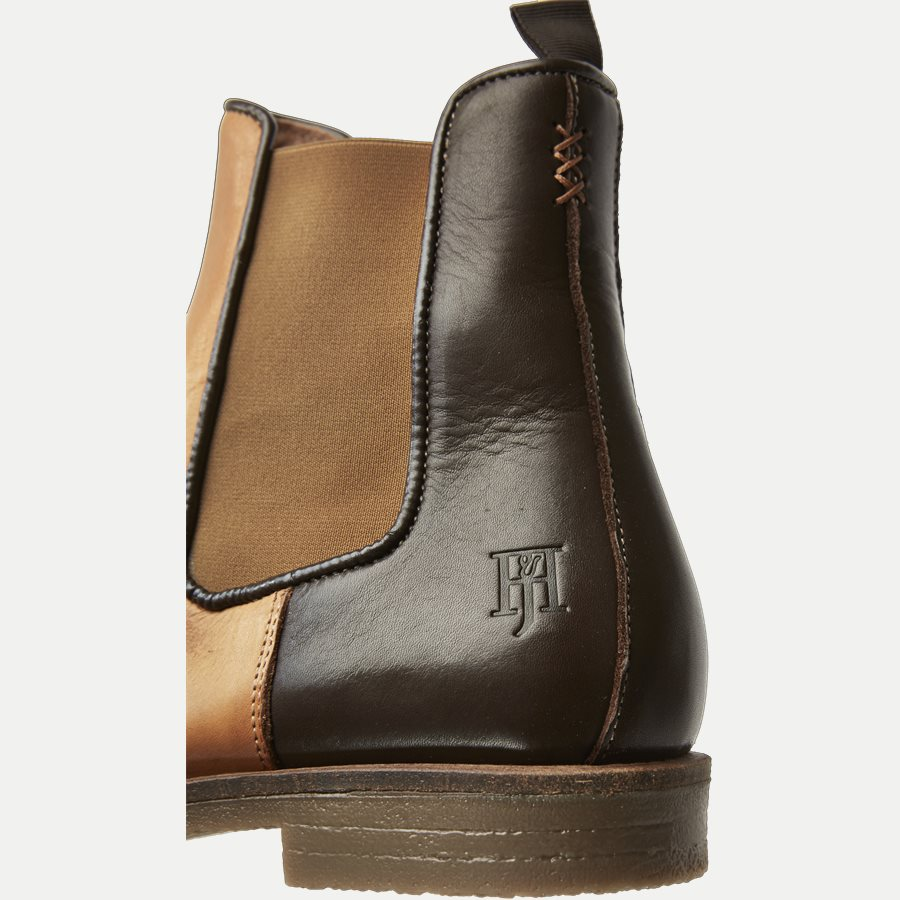 CHELSEA LEATHER BOOT - Chelsea Boot - Sko - BRUN - 5