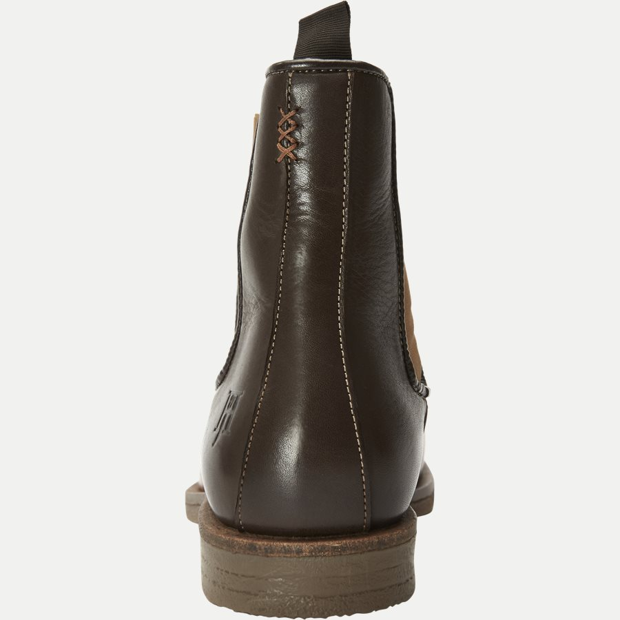 CHELSEA LEATHER BOOT - Chelsea Boot - Sko - BRUN - 7