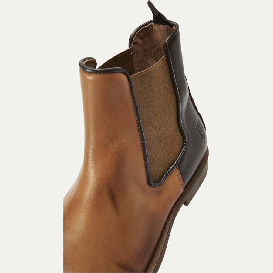 CHELSEA LEATHER BOOT - Chelsea Boot - Sko - BRUN - 10