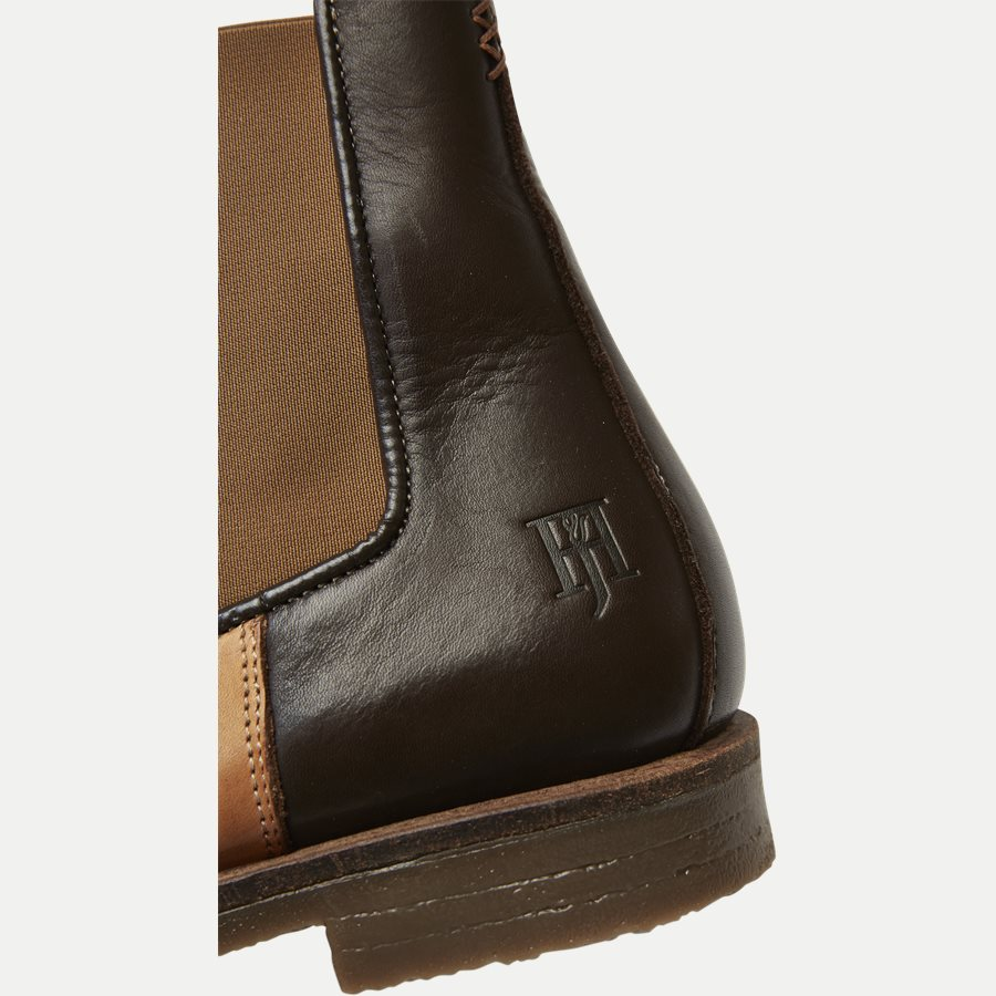 CHELSEA LEATHER BOOT - Chelsea Boot - Sko - BRUN - 11