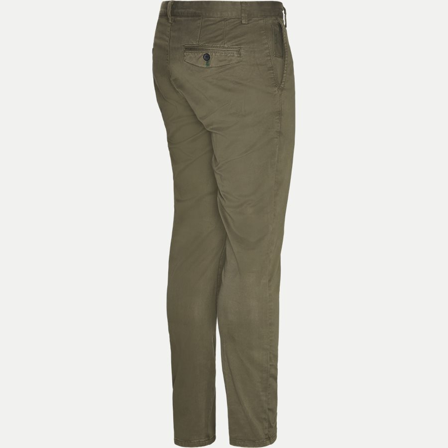3386 CHINO - Stretch Chinos - Bukser - Slim - ARMY - 3