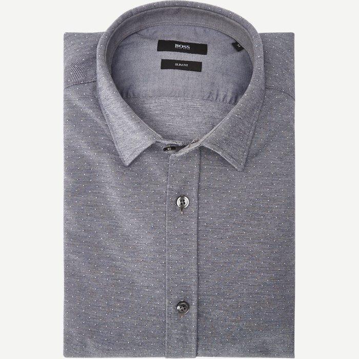 Ronni Skjorte - Skjorter - Slim - Blå