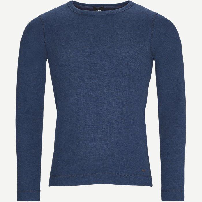 Tempest Long Sleeve T-Shirt - T-shirts - Slim - Blå