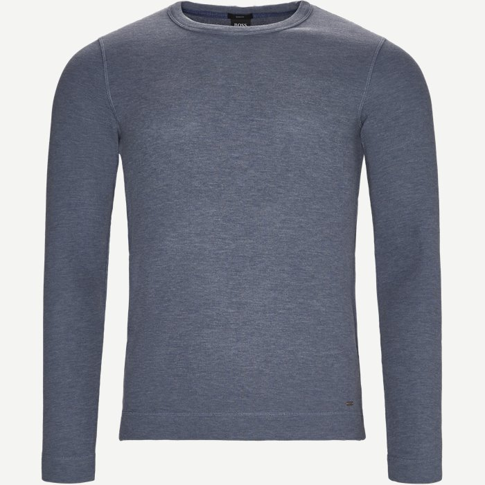 Tempest Long Sleeve T-Shirt - T-shirts - Slim - Denim
