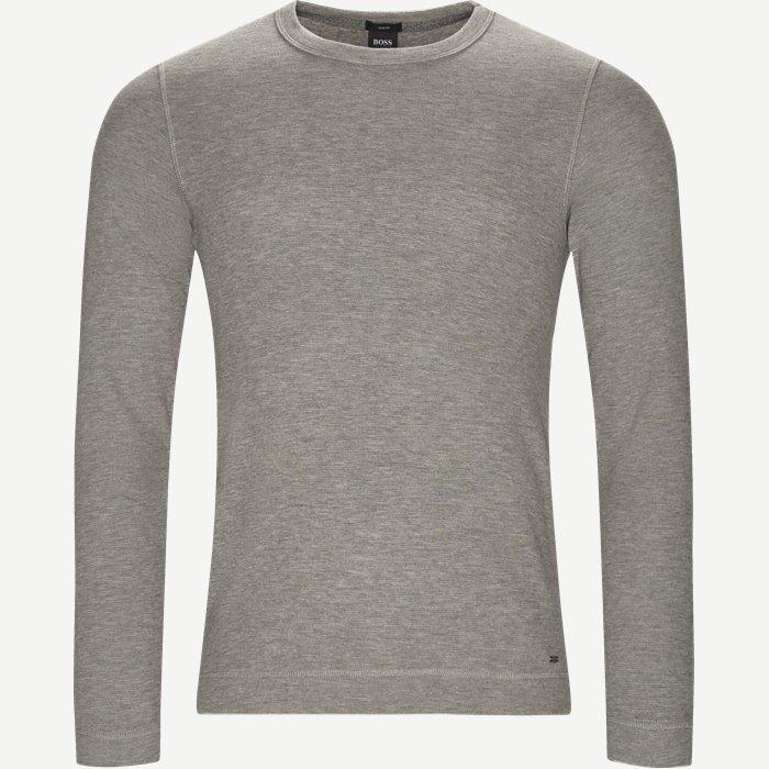 Tempest Long Sleeve T-Shirt - T-shirts - Slim - Grå
