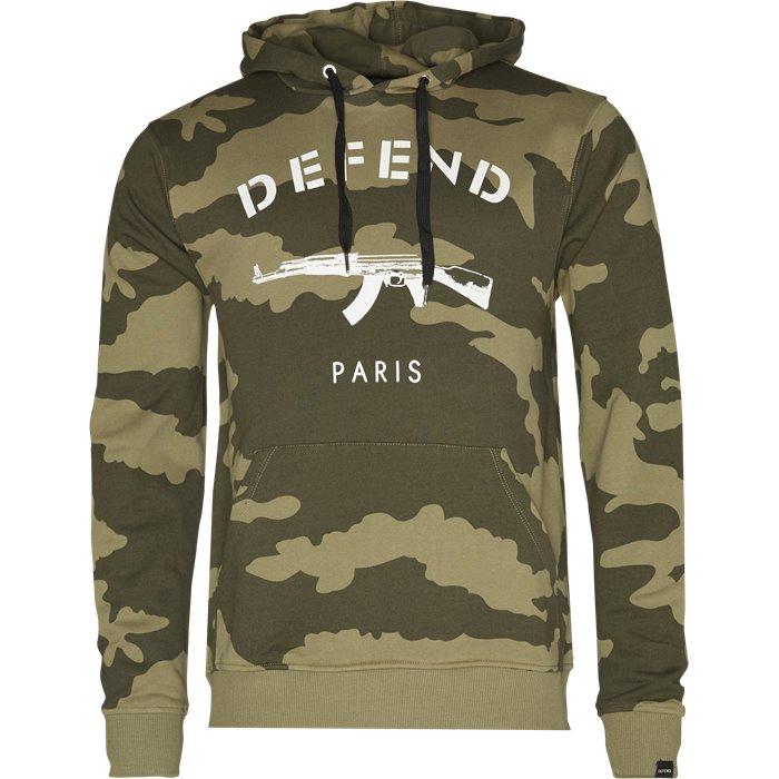 Paris Hood Khaki Camo - Sweatshirts - Regular - Sand