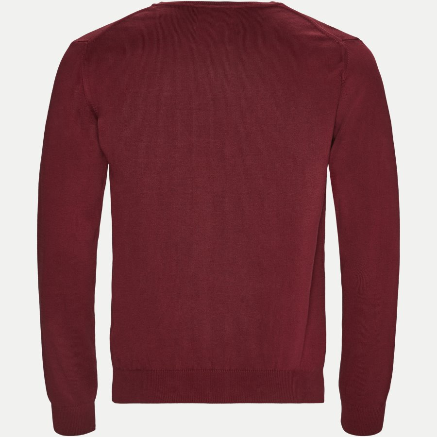 12195 645 - Crew Neck Strik - Strik - Regular - BORDEAUX - 2