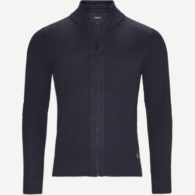 Kato Full Zip Cardigan Regular | Kato Full Zip Cardigan | Blå