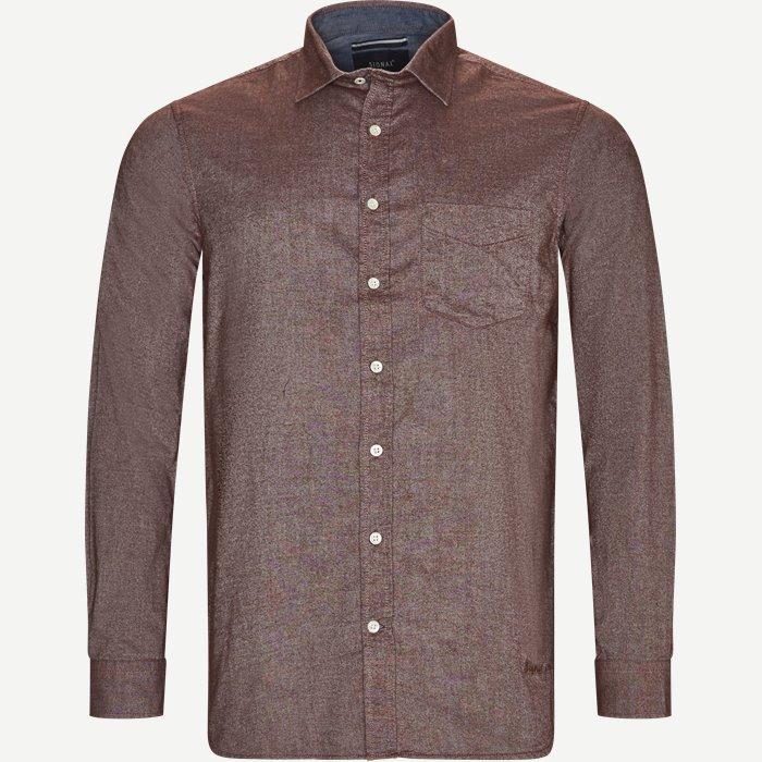 Hemden - Regular - Weinrot