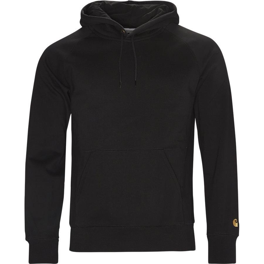 HOODED CHASE I024653 - Hooded Chase Sweatshirt - Sweatshirts - Regular - BLACK/GOLD - 1