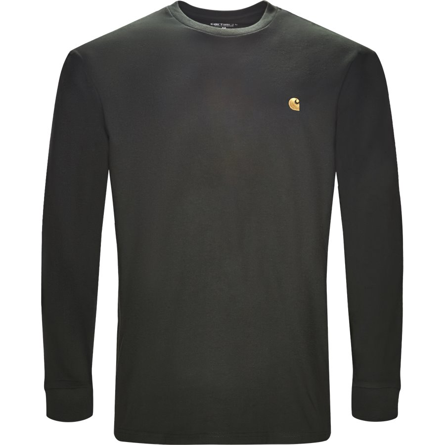 L/S CHASE I026392. - L/S Chase - T-shirts - Regular - LODEN/GOLD - 1