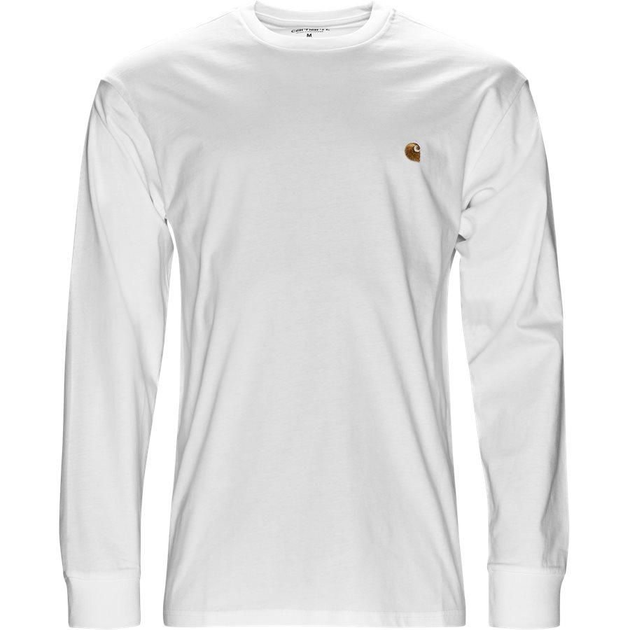 L/S CHASE I026392 - L/S Chase - T-shirts - Regular - WHITE/GOLD - 1