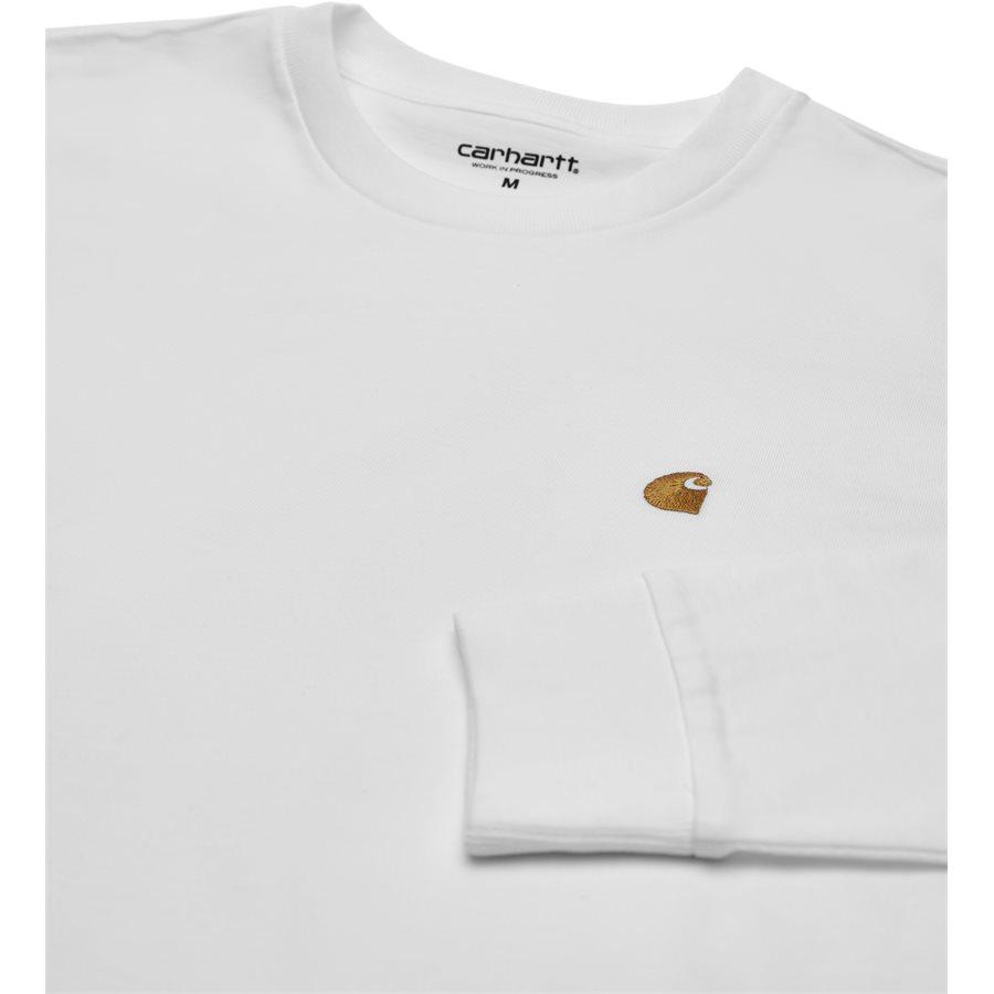 L/S CHASE I026392 - L/S Chase - T-shirts - Regular - WHITE/GOLD - 3