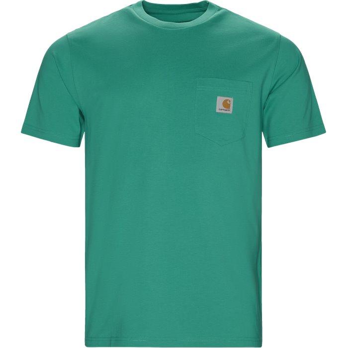 S/S Pocket - T-shirts - Regular - Turkis