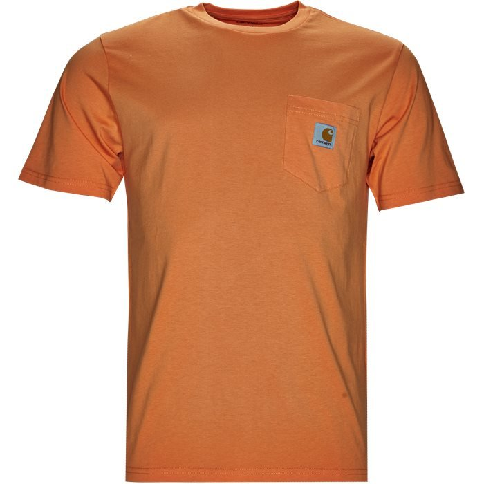 S/S Pocket - T-shirts - Regular - Orange