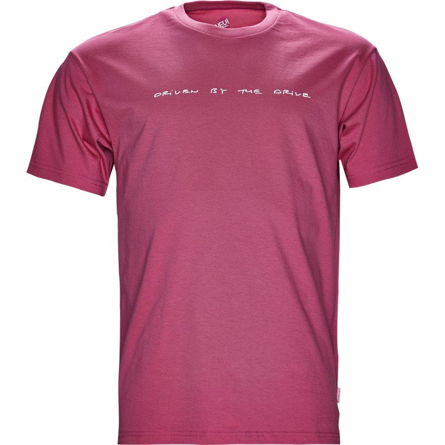 S/S NEU DRIVE I024760 - S/S Neu Drive - T-shirts - Regular - WILDBERRY/WHI - 1