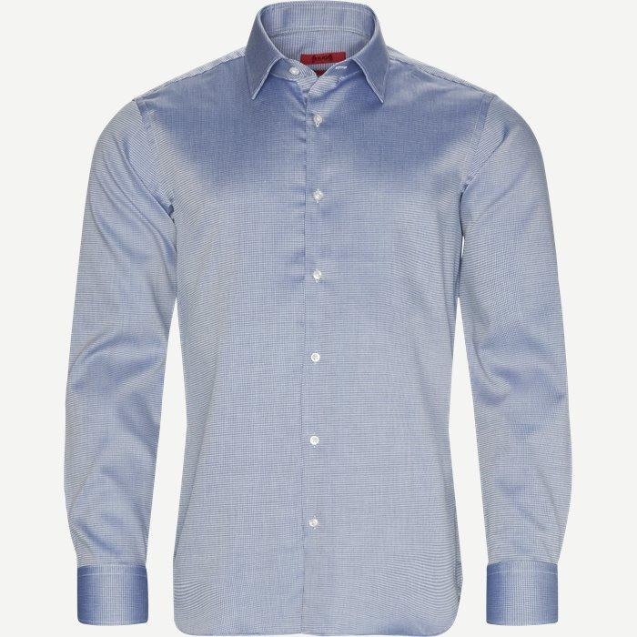 Venzo Skjorte - Skjorter - Regular - Blå