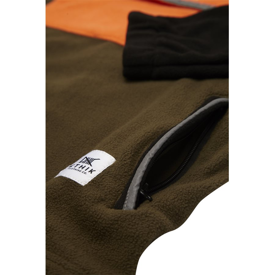 FW1751 RETRO POLAR FLEECE - Retro Polar Fleece - Sweatshirts - Regular - ARMY - 4