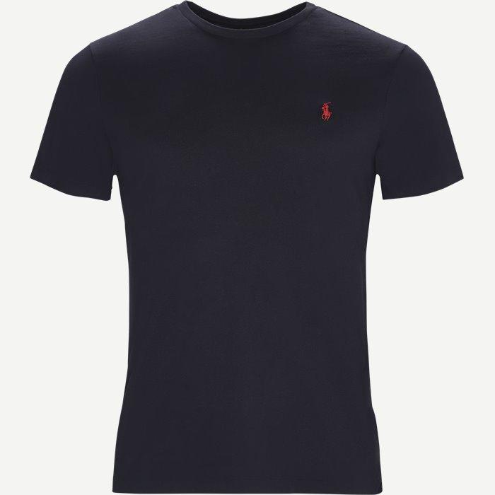 Short Sleeve Jersey T-shirt - T-shirts - Custom - Blå