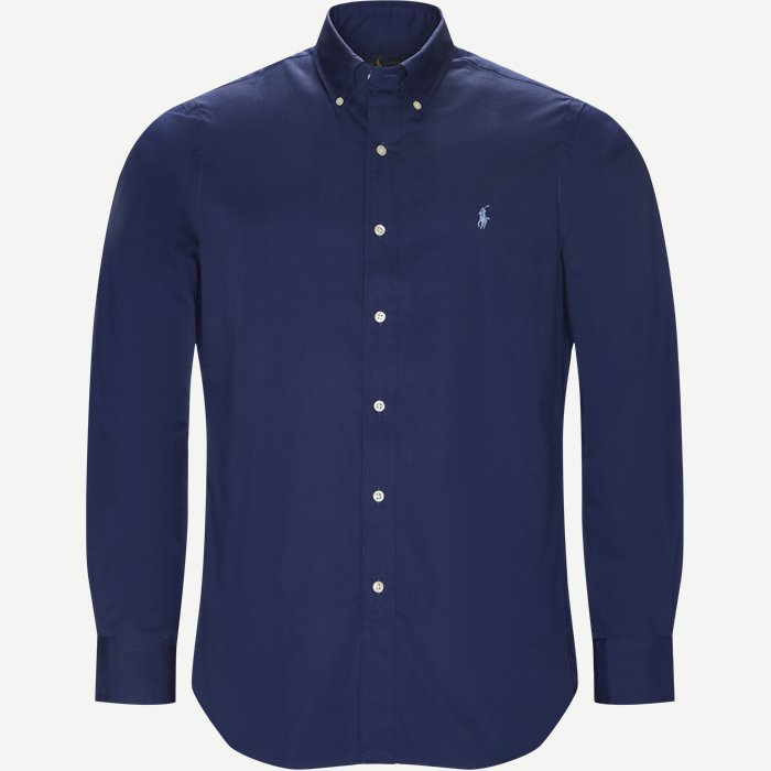 Poplin Button-Down Shirt - Skjorter - Regular - Blå