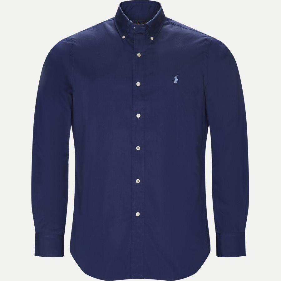 710548534 - Poplin Button-Down Shirt - Skjorter - Regular - NAVY - 1