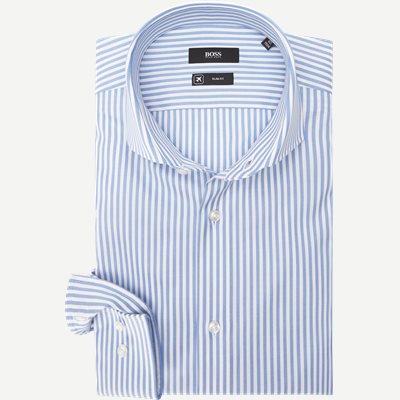 Jason Travel Skjorte Slim | Jason Travel Skjorte | Blå