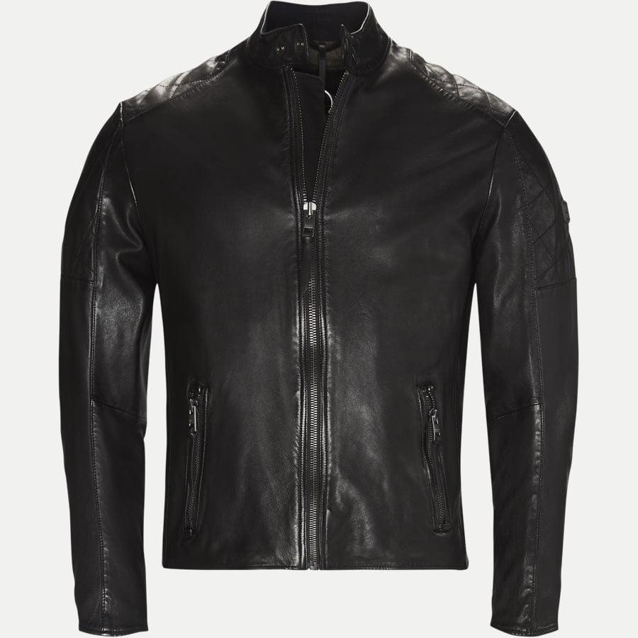 50382360 JEEPO1 - Jeepo1 Biker Leather Jacket - Jakker - Slim - SORT - 1