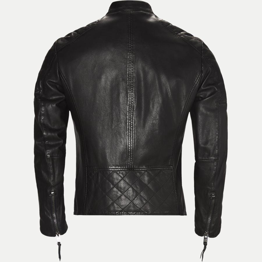 50382360 JEEPO1 - Jeepo1 Biker Leather Jacket - Jakker - Slim - SORT - 2