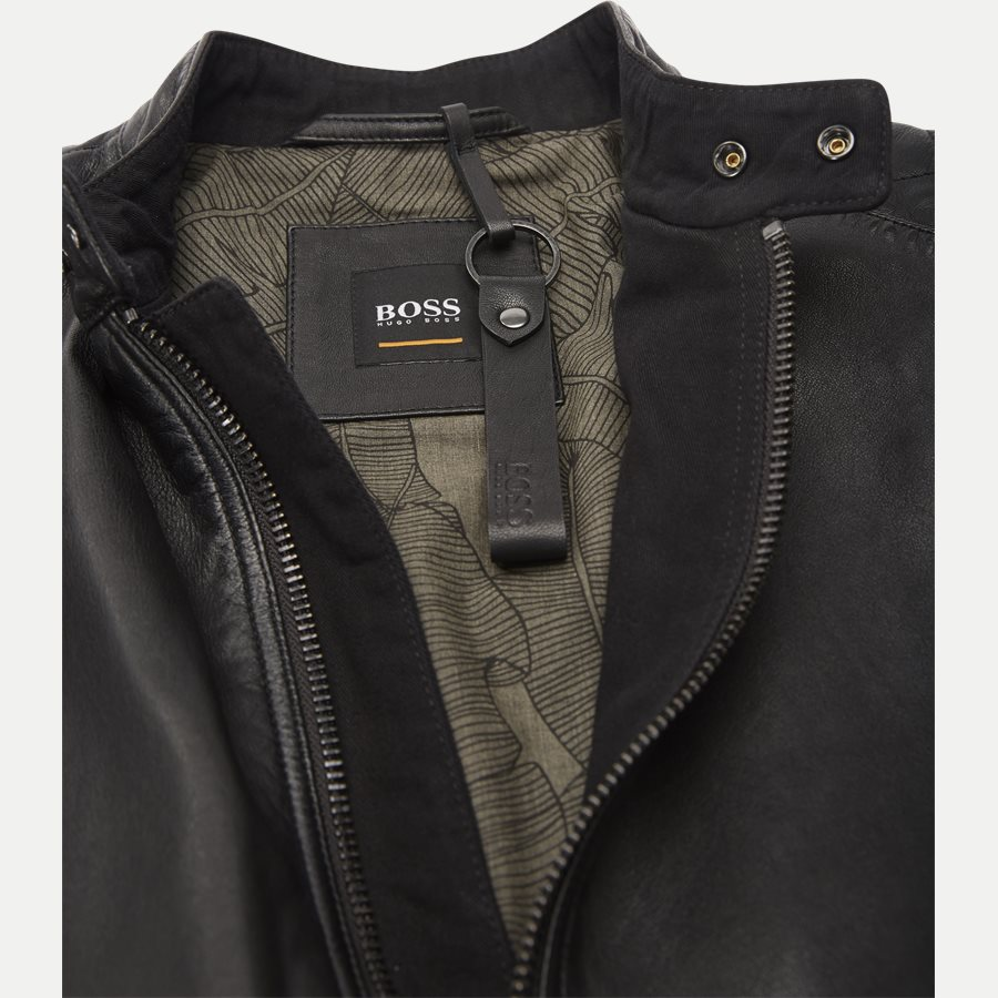 50382360 JEEPO1 - Jeepo1 Biker Leather Jacket - Jakker - Slim - SORT - 3