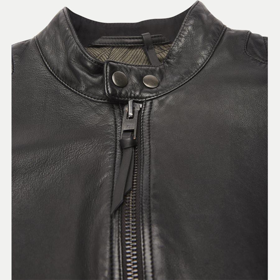 50382360 JEEPO1 - Jeepo1 Biker Leather Jacket - Jakker - Slim - SORT - 4