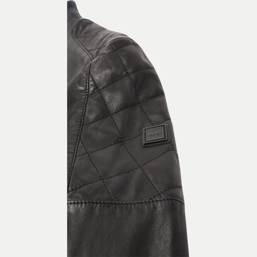 50382360 JEEPO1 - Jeepo1 Biker Leather Jacket - Jakker - Slim - SORT - 5