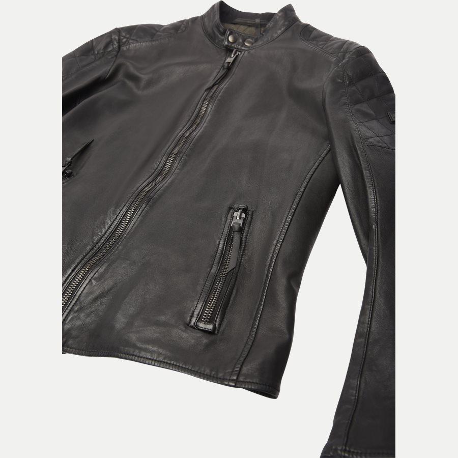 50382360 JEEPO1 - Jeepo1 Biker Leather Jacket - Jakker - Slim - SORT - 6