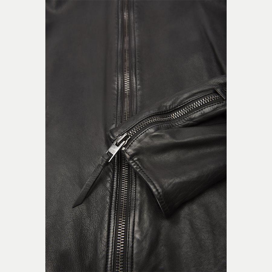 50382360 JEEPO1 - Jeepo1 Biker Leather Jacket - Jakker - Slim - SORT - 7