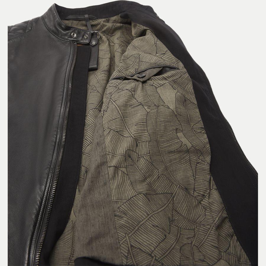 50382360 JEEPO1 - Jeepo1 Biker Leather Jacket - Jakker - Slim - SORT - 8