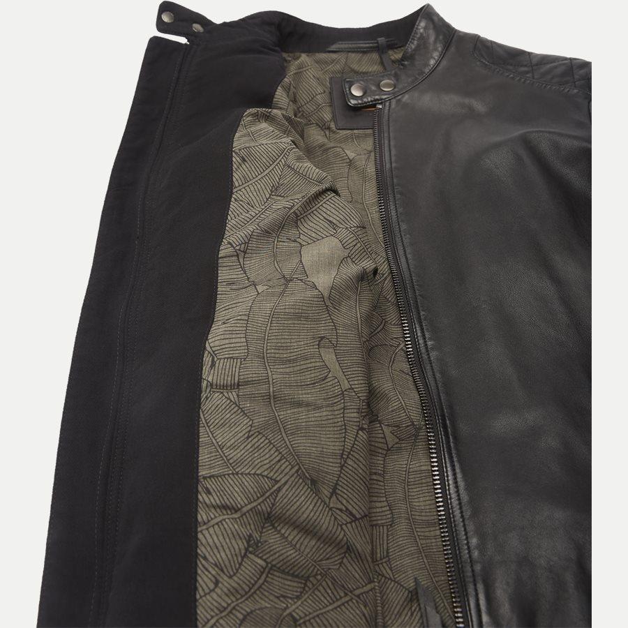50382360 JEEPO1 - Jeepo1 Biker Leather Jacket - Jakker - Slim - SORT - 9