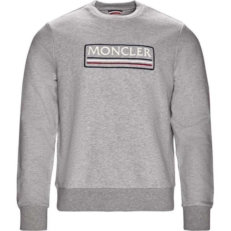 moncler Moncler sweatshirt grå på axel.dk