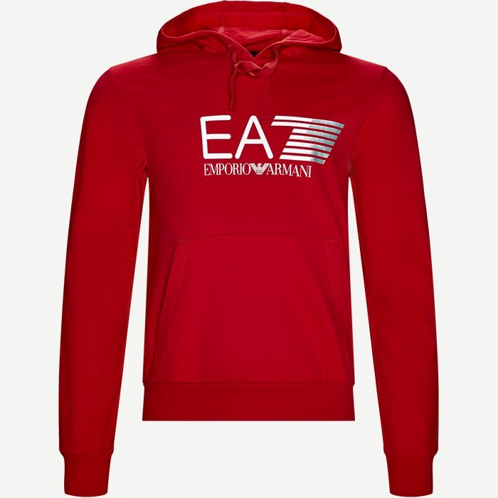 Hætte Sweatshirt - Sweatshirts - Regular - Rød