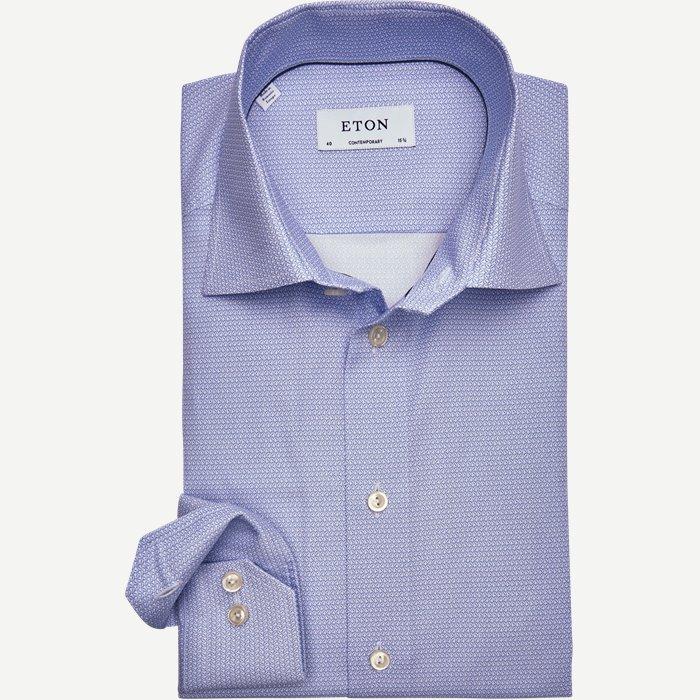 2710 Poplin Skjorte - Skjorter - Blå