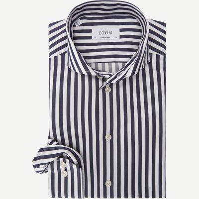 1109 Satin Skjorte 1109 Satin Skjorte | Blå